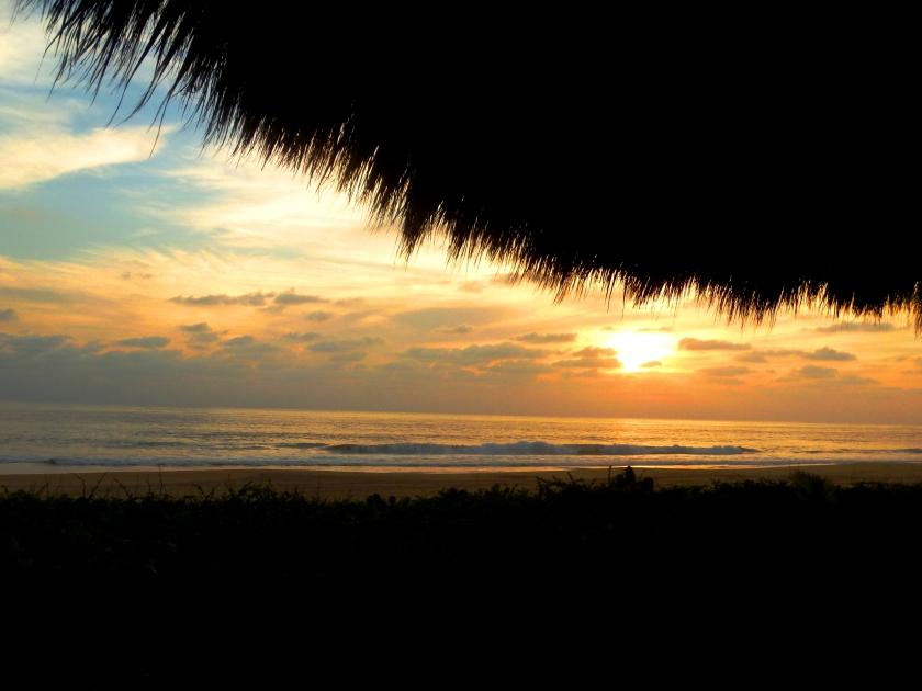 Sunset over Playa Viva