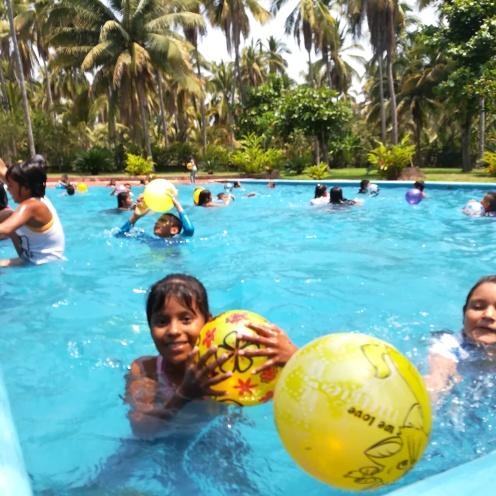 Children at Playa Viva